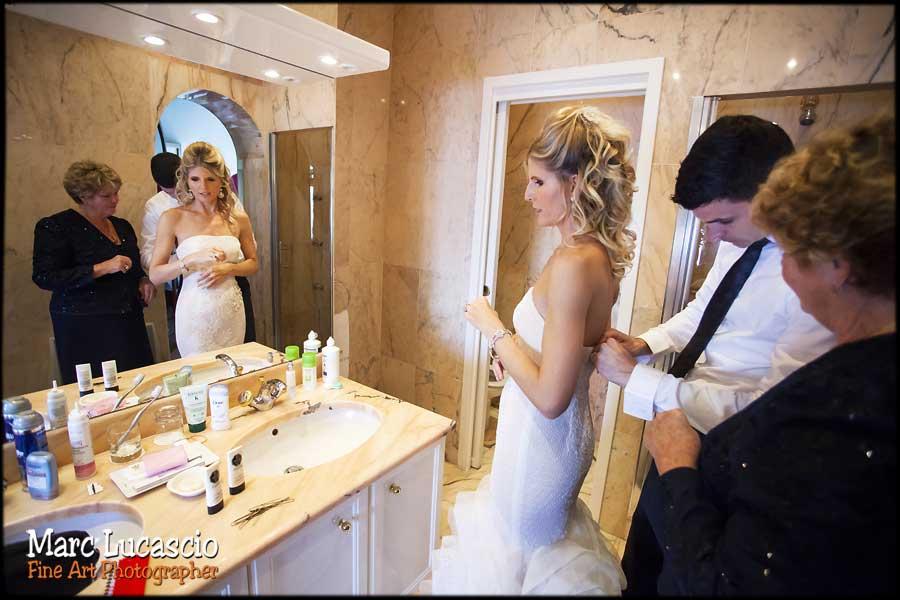 Préparation du mariage à Eze