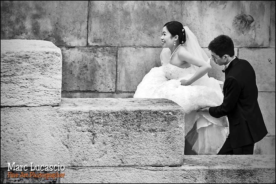 Photo noir et blanc couple Paris