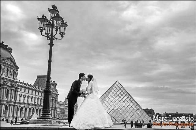 Noir et blanc artistique couple Paris