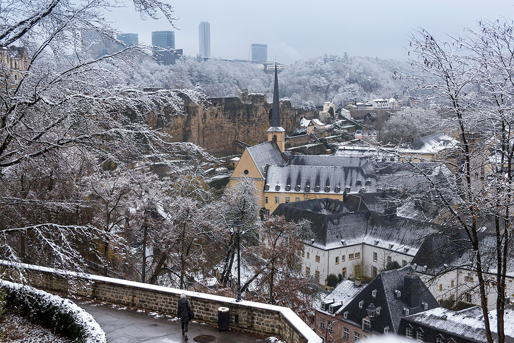luxembourg city snow