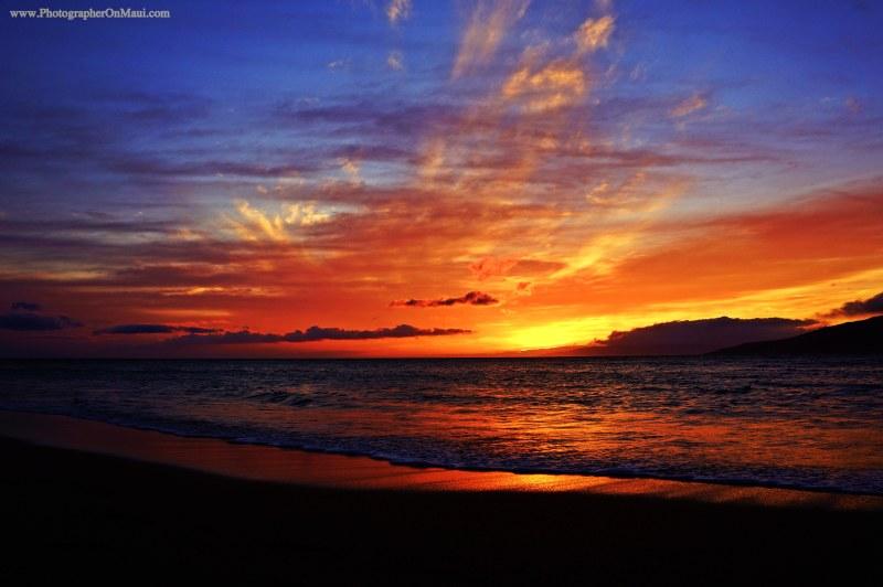 """Vivid Maui Sunset"" by Maui Photographer Kevin Hoffman"