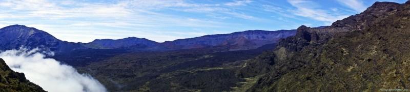 Panorama of Haleakala Crater from Switchbacks