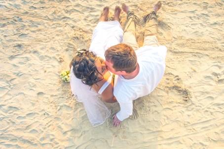 wedding photo session at Railay beach Krabi Thailand