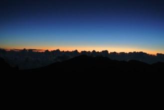 Pre-sunrise at Haleakala. It was so cold!