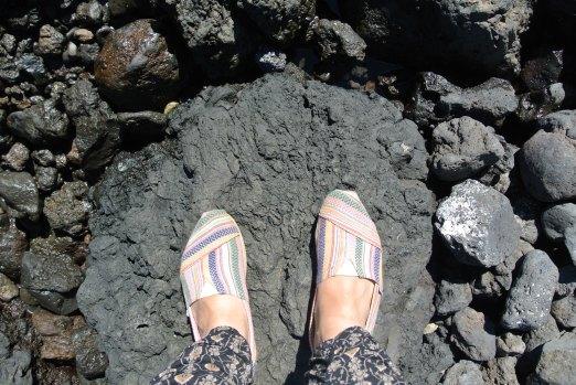 Atop volcanic rock