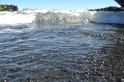 Just so you know, my camera isn't waterproof...and those waves are quick!