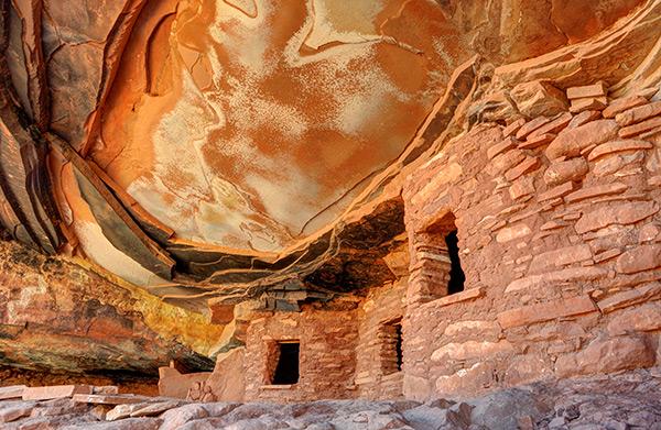 Fallen Roof Anasazi Ruin Cedar Mesa Utah