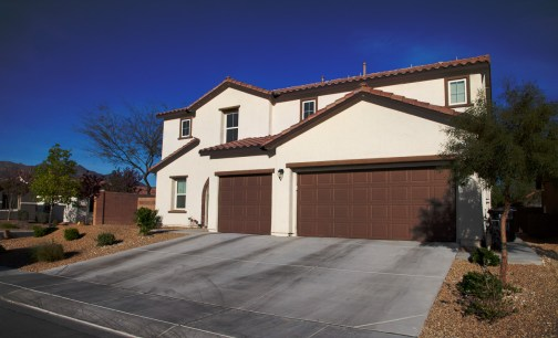 Photographers of Las Vegas - Architectural Photography - outside house with dark blue sky