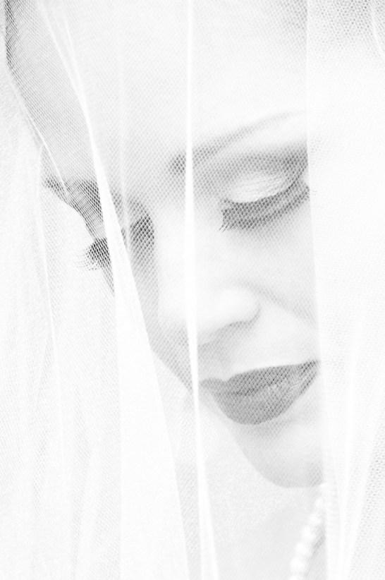 Photographers of Las Vegas - Wedding Photography - wedding bride black and white image highlight style