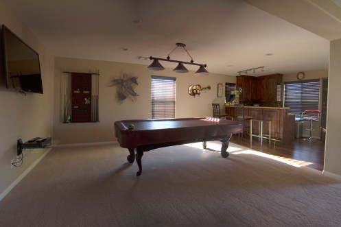 Photographers of Las Vegas - Architectural Photography - pool table room with bar