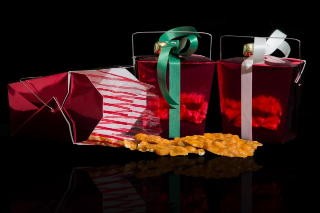 Photographers of Las Vegas - Product Photography - peanut brittle christmas packaging