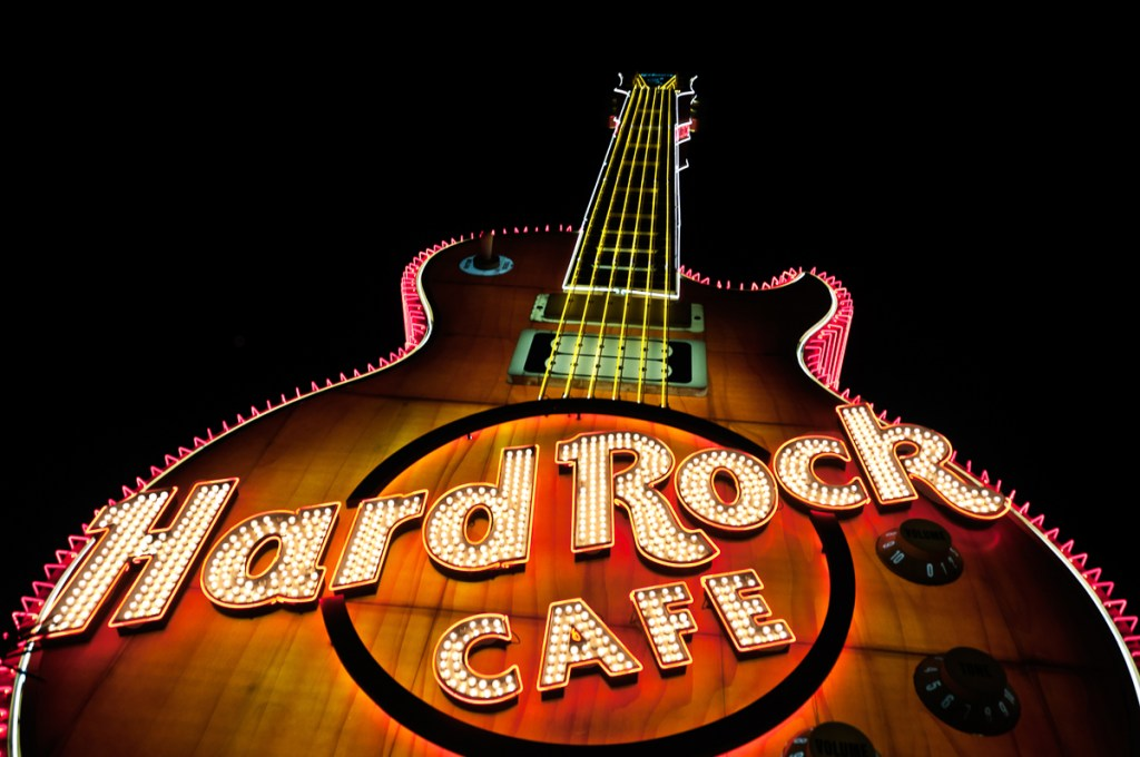 Photographers of Las Vegas - Architectural Photography - hard rock cafe guitar