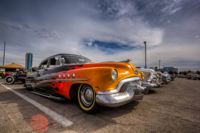 Photographers of Las Vegas - Car Photography - old car flames