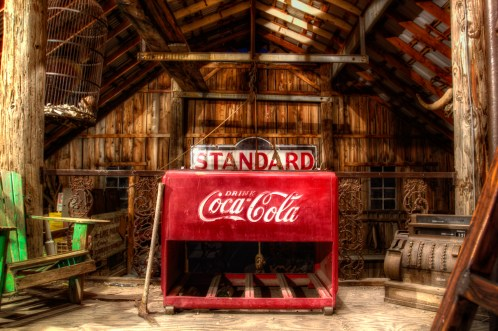Photographers of Las Vegas - Product Photography - old coca cola cooler in wooden barn