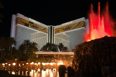 Photographers of Las Vegas - Architectural Photography - mirage volcano explosion