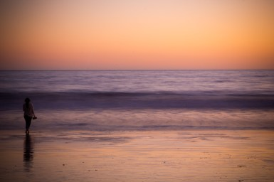 Photographers of Las Vegas - Portrait Photography - ocean sunset girl on beach