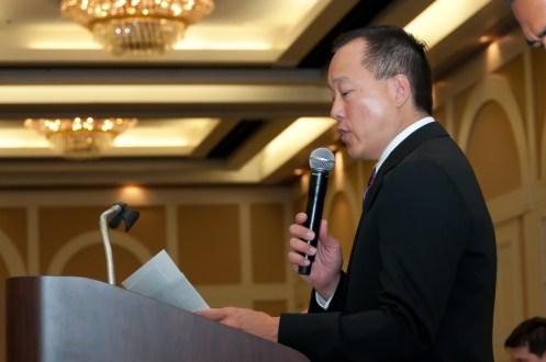 Photographers of Las Vegas - Corporate Photography - Taekwondo tournament opening speech