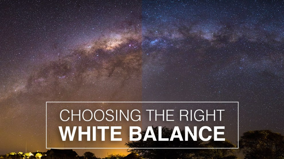 how to choose white balance