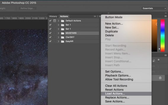Photoshop actions load actions