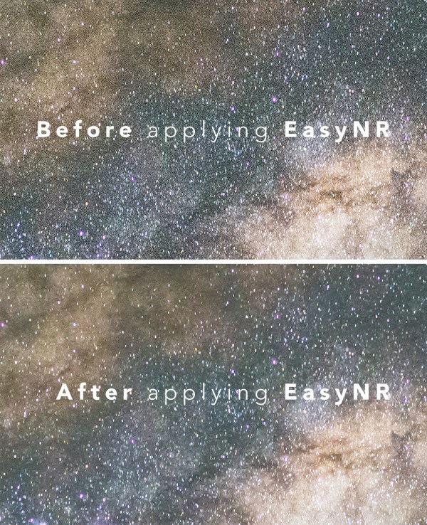 Before and after using EasyNR