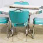 Lot 64 Mid Century Modern Chrome And Formica Kitchen Table