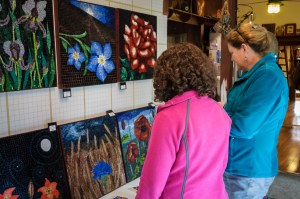 Patrons at the Yellow Springs Artist Studio Tour