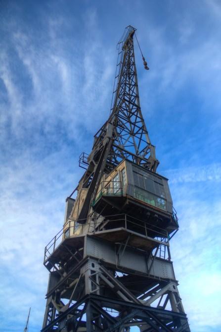 Rusty old crane