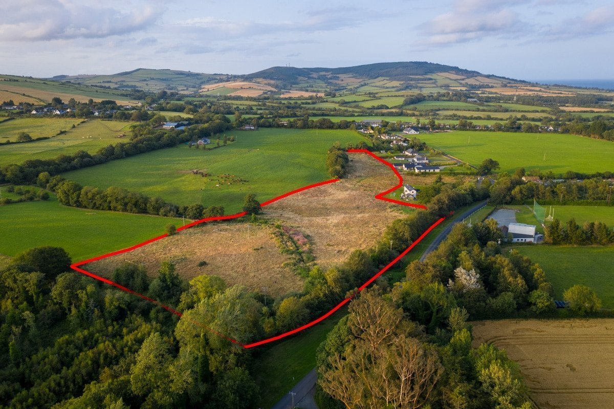 Site outline from aerial photo