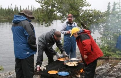 Dad, Peter, Paul, David; Lunch