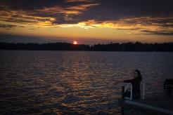 MArie enjoying the Sunset