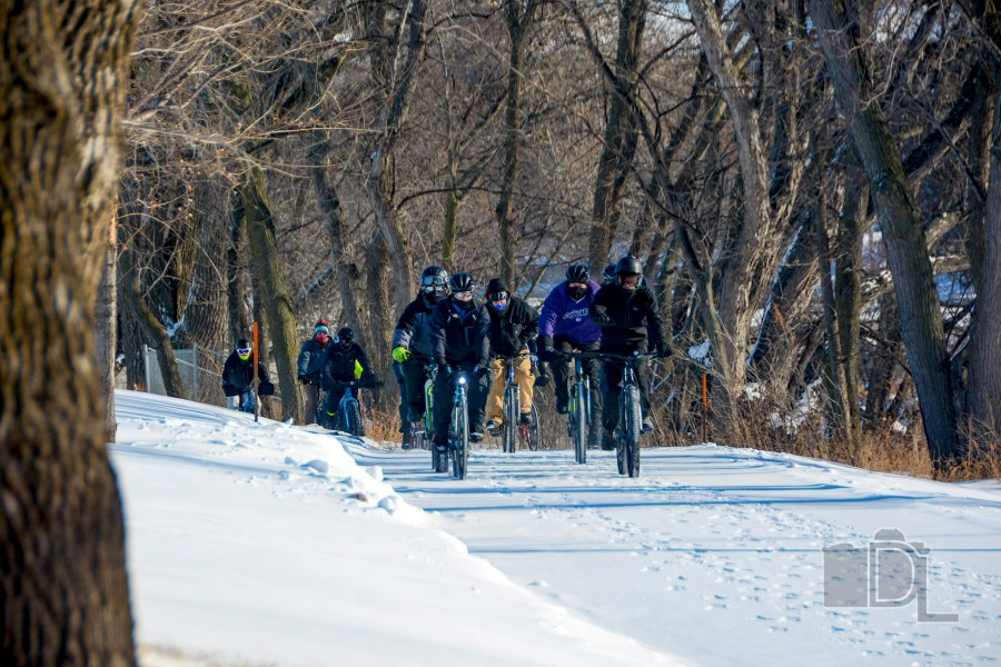Cyclists brave bitter cold temperatures for an annual New Year's Day Bike Ride.