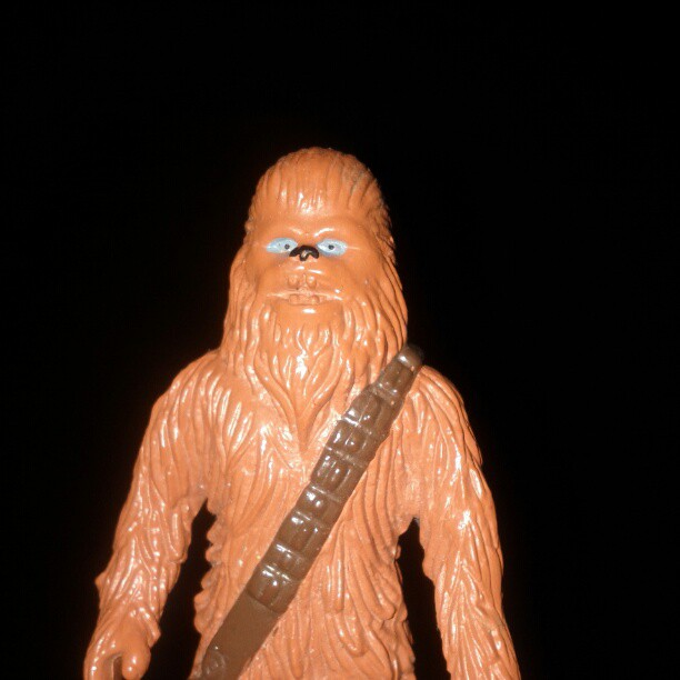 a photo of a Chewbacca toy