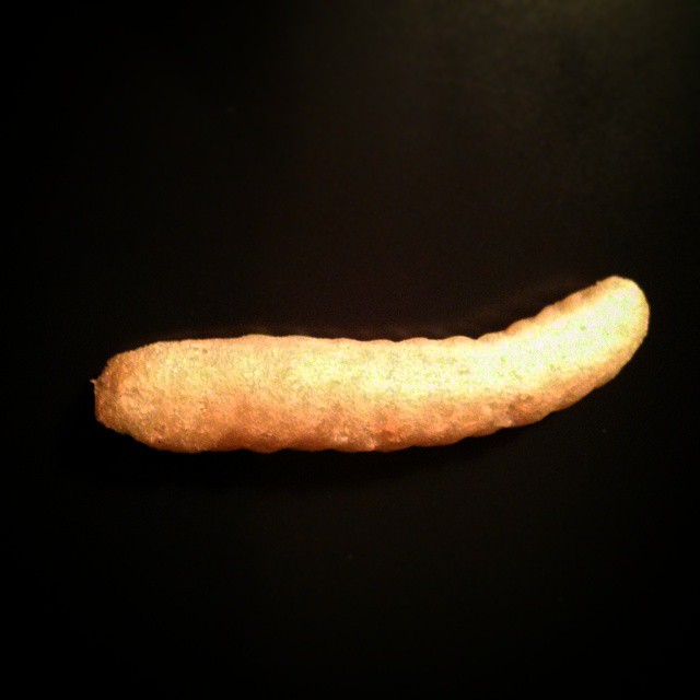 a photo of a nongshim shrimp cracker closeup