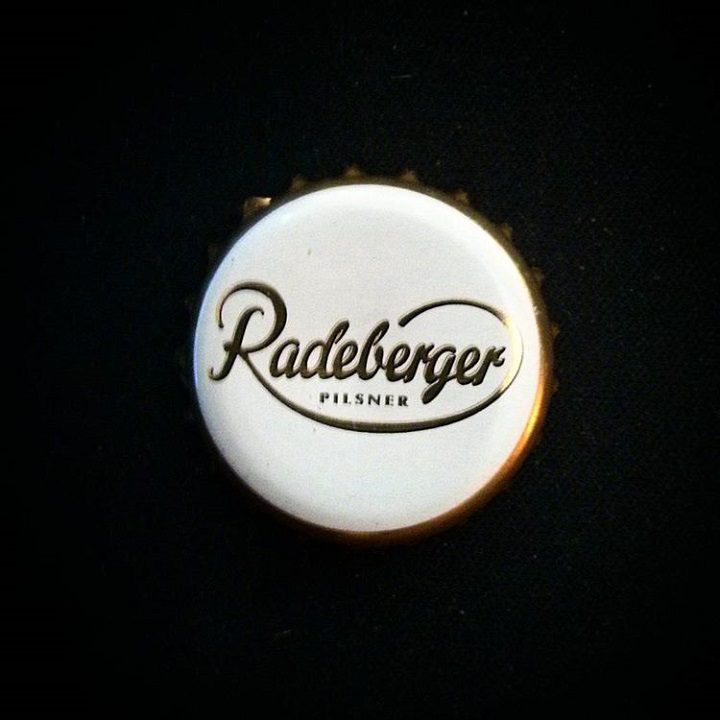 a photo of the cap off of a radeberger pilsner bottle