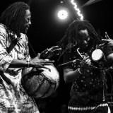Malian musician Habib Koité with his band Bamada at the Taragalte Festival