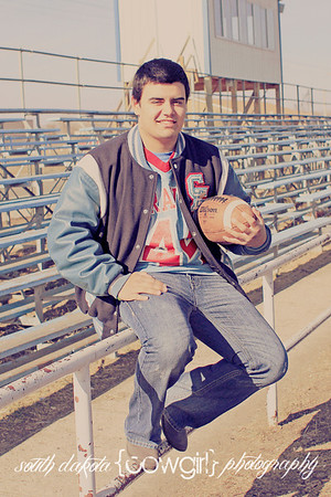 football senior portrait