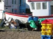 The garish jumble at the back of many of the fishing huts.