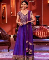 2-Madhuri-Dixit-Purple-Raw-Silk-frock-by-manish