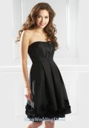 Satin Strapless Ruched Beauty Balck Royal Stylish Cheap Prom Dresses Online Shop