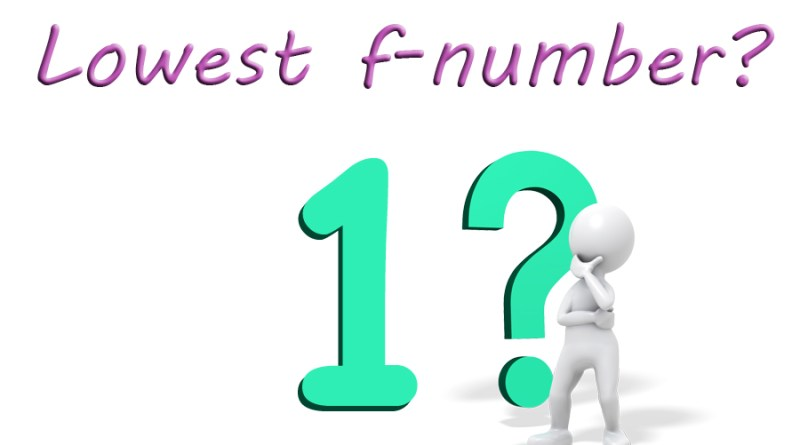 Lowest f-number