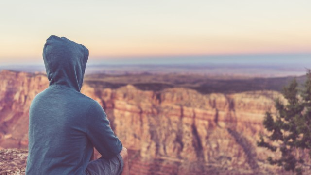 Watching the Sunset at Grand Canyon - © Ofer Rozenman