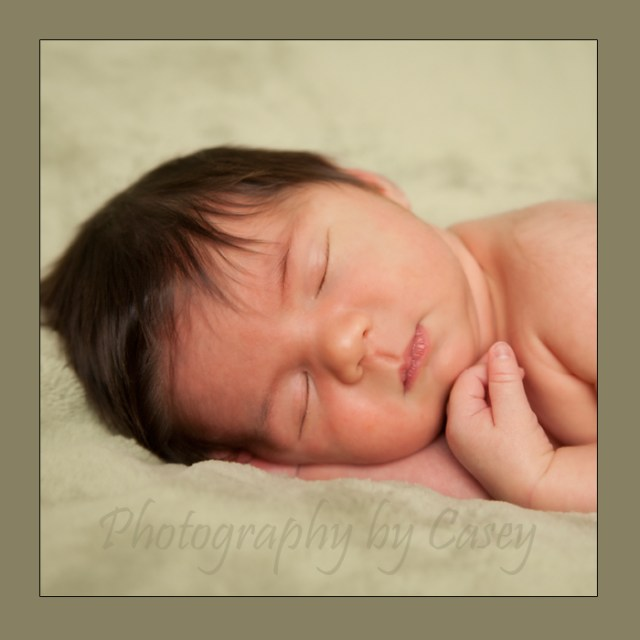 Sleeping Newborn Photography Idea