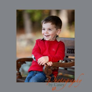 photography of little boy posed in Autumn setting