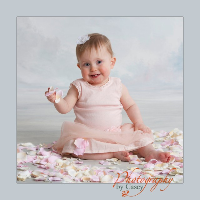 portrait of baby in tutu