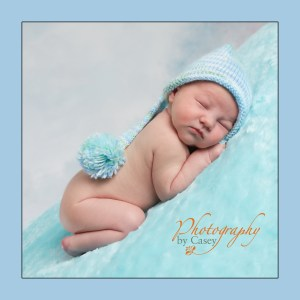 Newborn with stocking hat