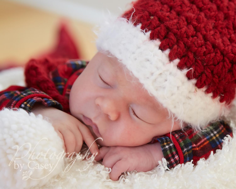 christmas newborn photography