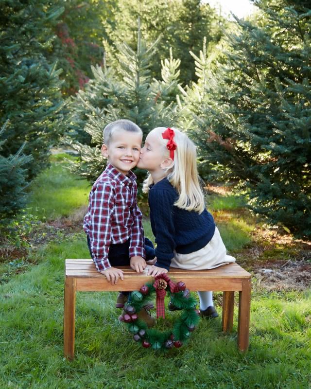 Christmas Tree Farm Children Photography