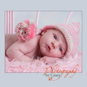 infant in hat photography
