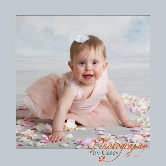 baby portrait with tutu