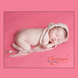 Vintage hat with sleeping newborn baby